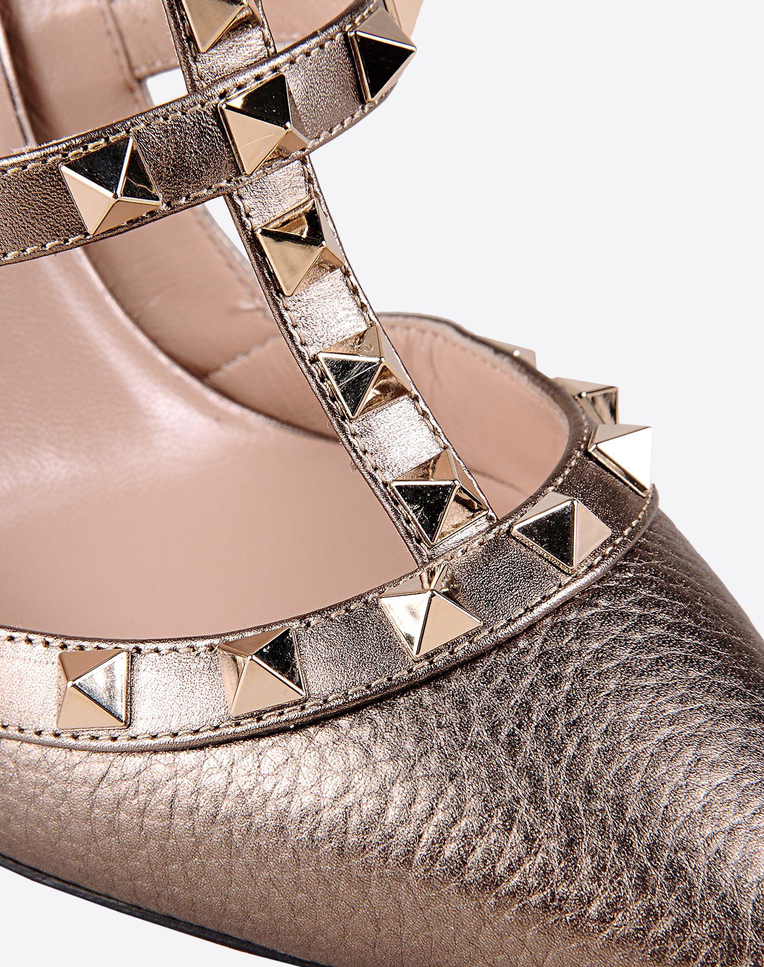 VALENTINO Rockstud ankle strap 44866293hc