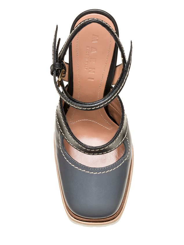 Marni Sling-back in calfskin with track sole Woman - 4