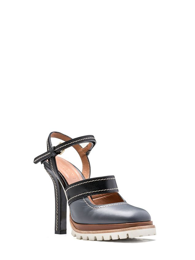 Marni Sling-back in calfskin with track sole Woman - 2