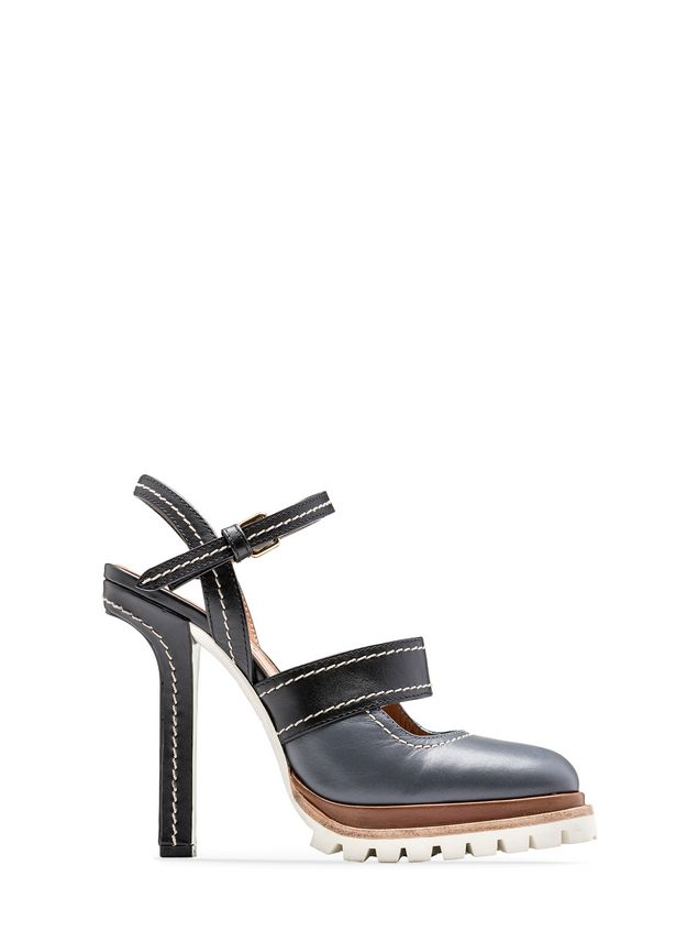 Marni Sling-back in calfskin with track sole Woman - 1
