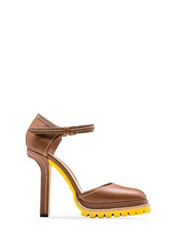Marni Mary-Jane in calfskin with contrasting stitching Woman