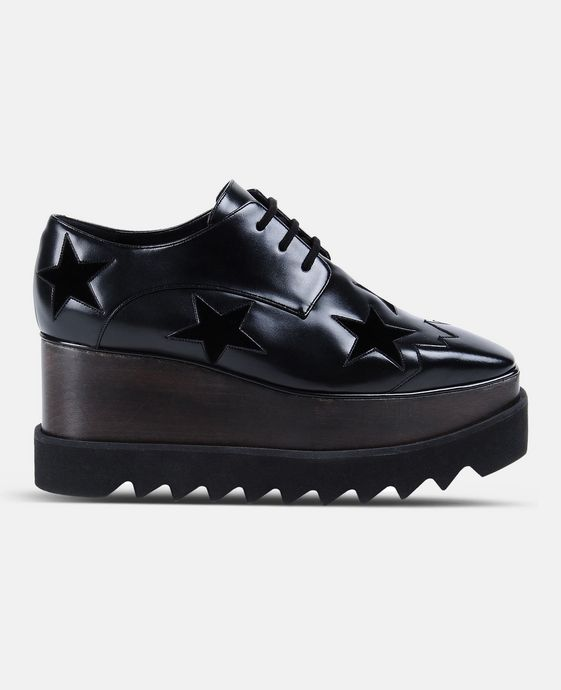 STELLA McCARTNEY Black Elyse Star Shoes Wedges D c