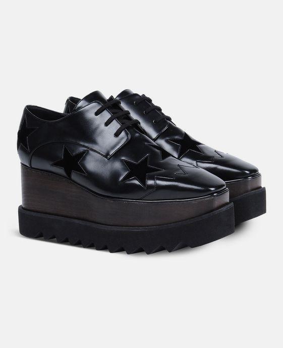 STELLA McCARTNEY Black Elyse Star Shoes Wedges D h