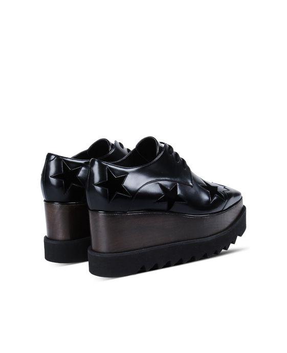 STELLA McCARTNEY Black Elyse Star Shoes Wedges D i