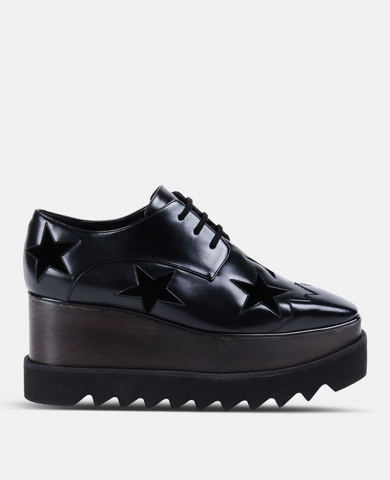 Chaussures Elyse noires avec étoiles