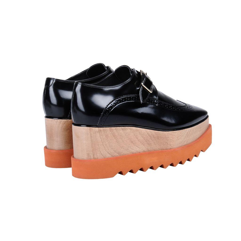 Black Brogue Elyse Shoes - STELLA MCCARTNEY