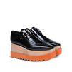 STELLA McCARTNEY Black Brogue Elyse Shoes Wedges D r