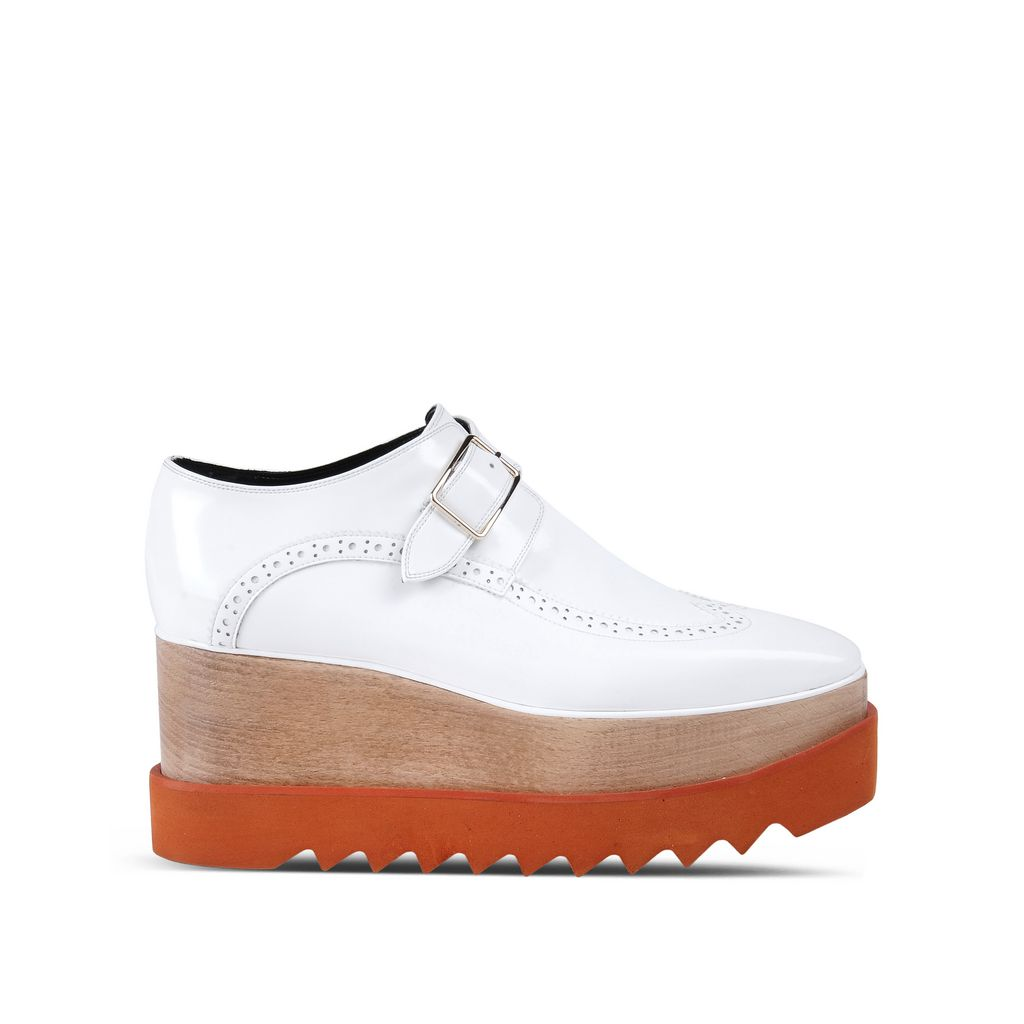 White Brogue Elyse Shoes - STELLA MCCARTNEY