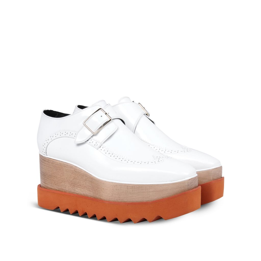 White Brogue Elyse Shoes - STELLA MCCARTNEY