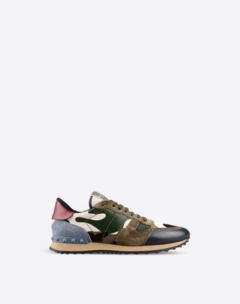 VALENTINO GARAVANI UOMO LOW-TOP SNEAKERS U Camouflage Rockrunner sneaker  f