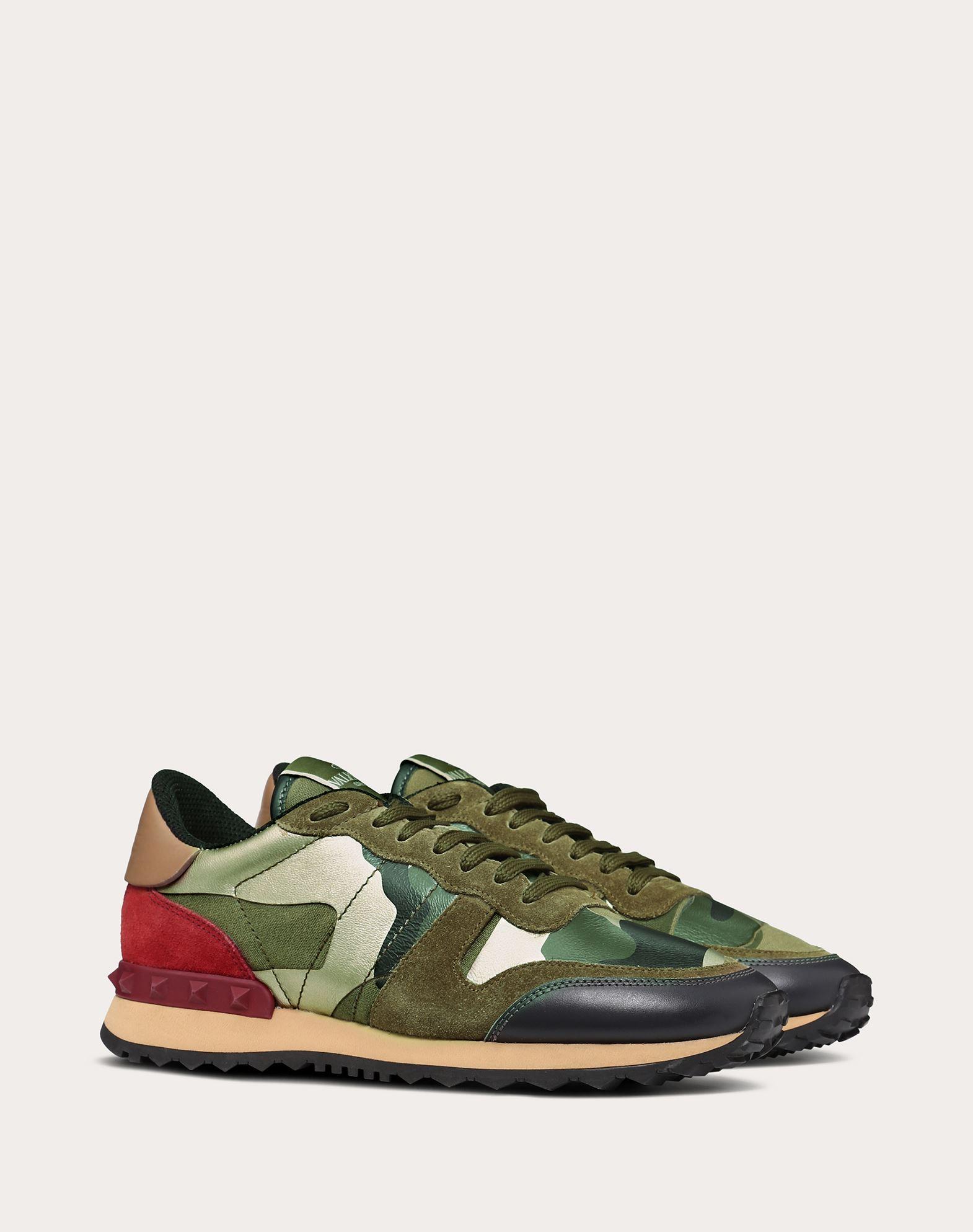 VALENTINO GARAVANI Camouflage sneaker LOW-TOP SNEAKERS D r