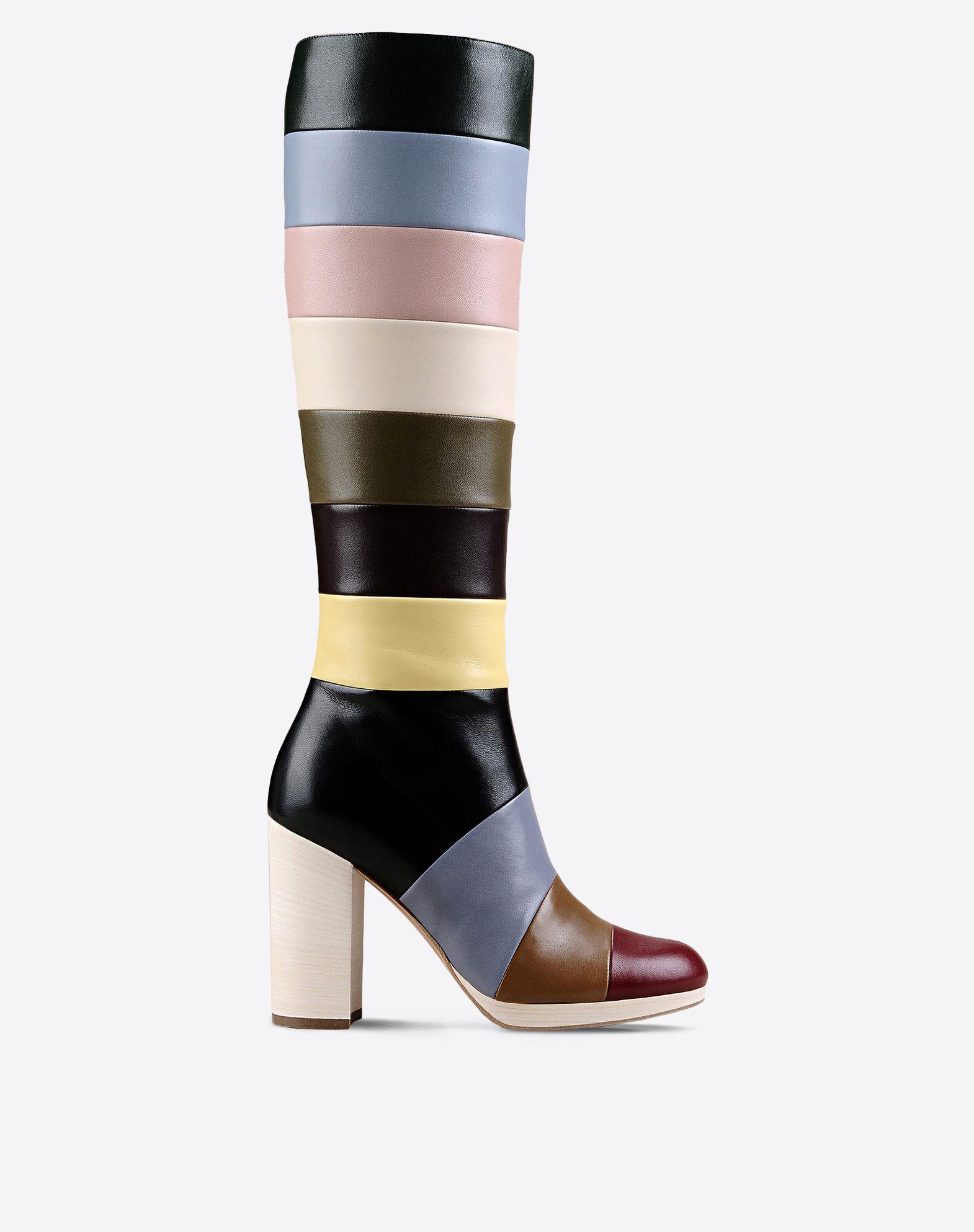 VALENTINO Inner zip closure Multicolor Pattern Leather sole Round toeline  44897945ol