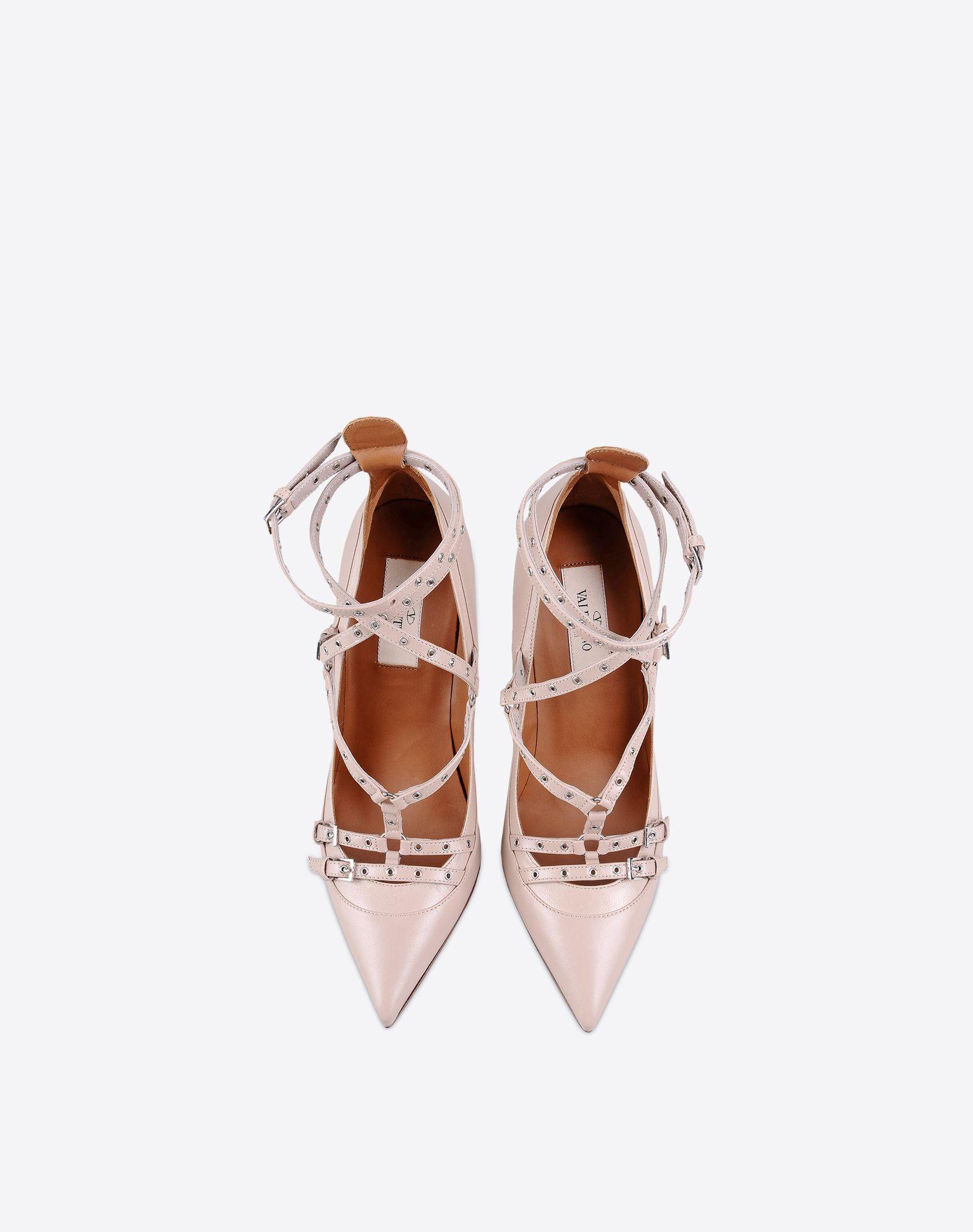 VALENTINO Studs Buckle Leather sole Narrow toeline Spike heel  44899891ii