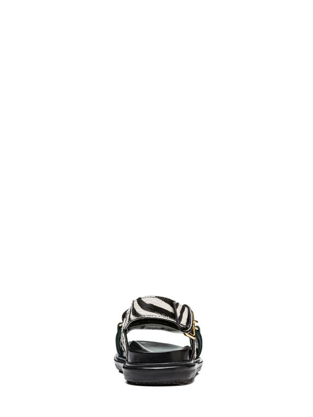 Marni Fussbett zebra-designed calf pony rubber sole Woman