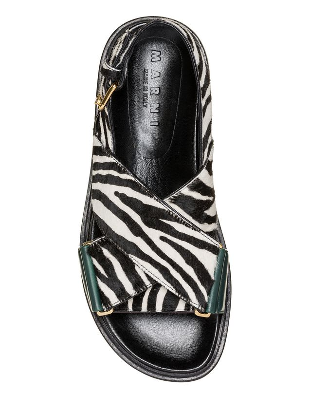 Marni Fussbett zebra-designed calf pony rubber sole Woman - 4