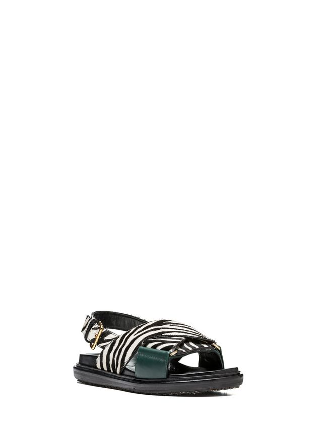 Marni Fussbett zebra-designed calf pony rubber sole Woman - 2