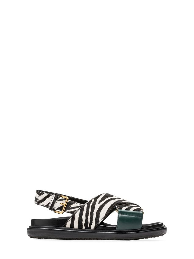 Marni Fussbett zebra-designed calf pony rubber sole Woman - 1