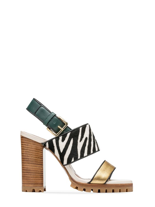 40fd8d131d6 Sandal Zebra Designed Pony Calf Rubber Sole from the Marni Fall ...