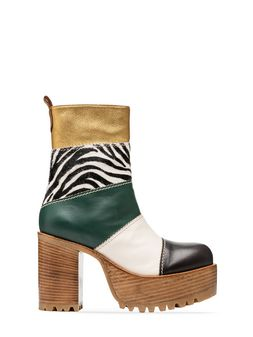 Marni Ankle boot zebra design calf  Woman
