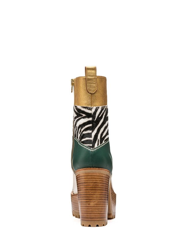 Marni Ankle boot zebra design calf  Woman - 3