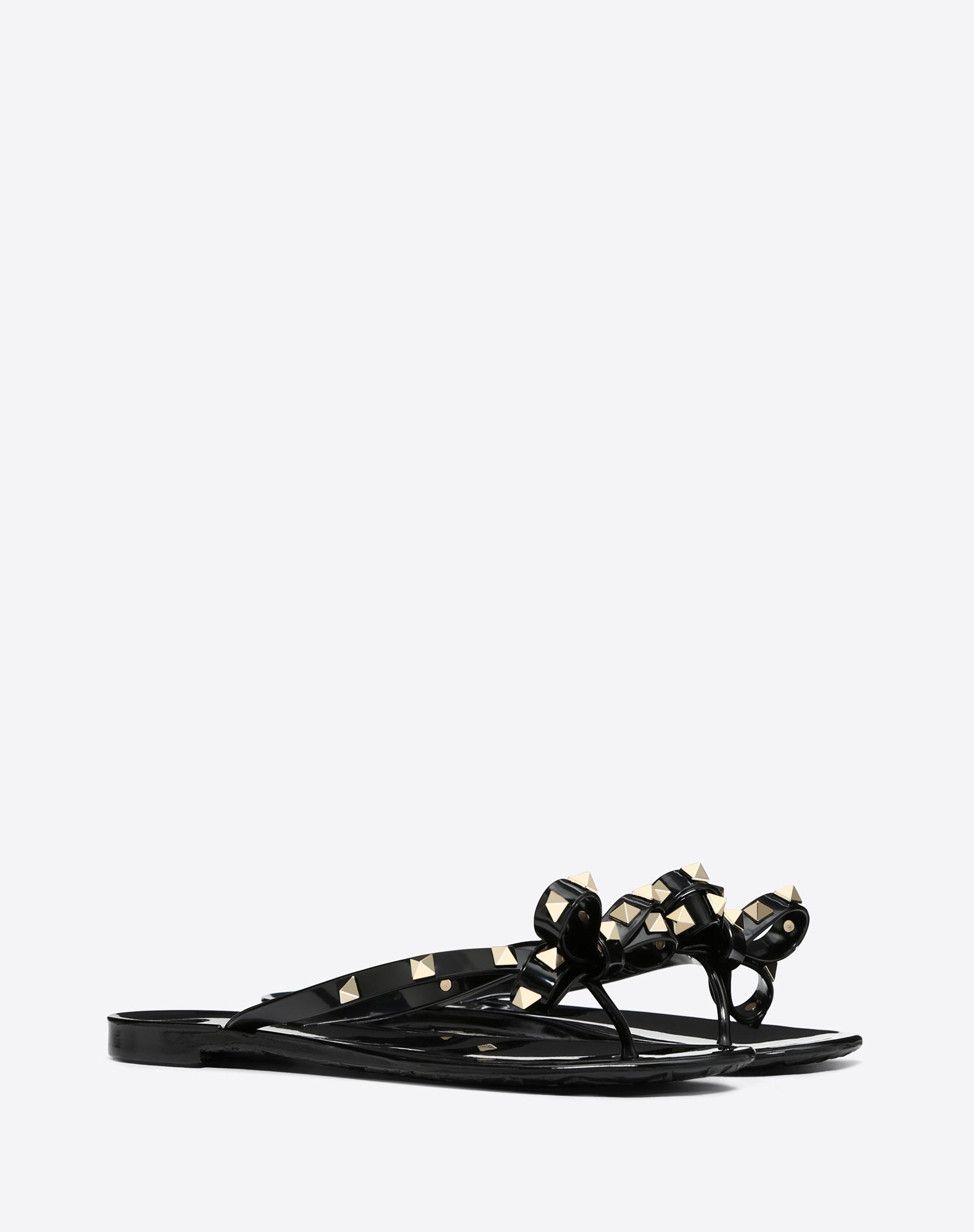 VALENTINO Bow detailing Studs Solid colour Rubber sole Round toeline  44910395ml