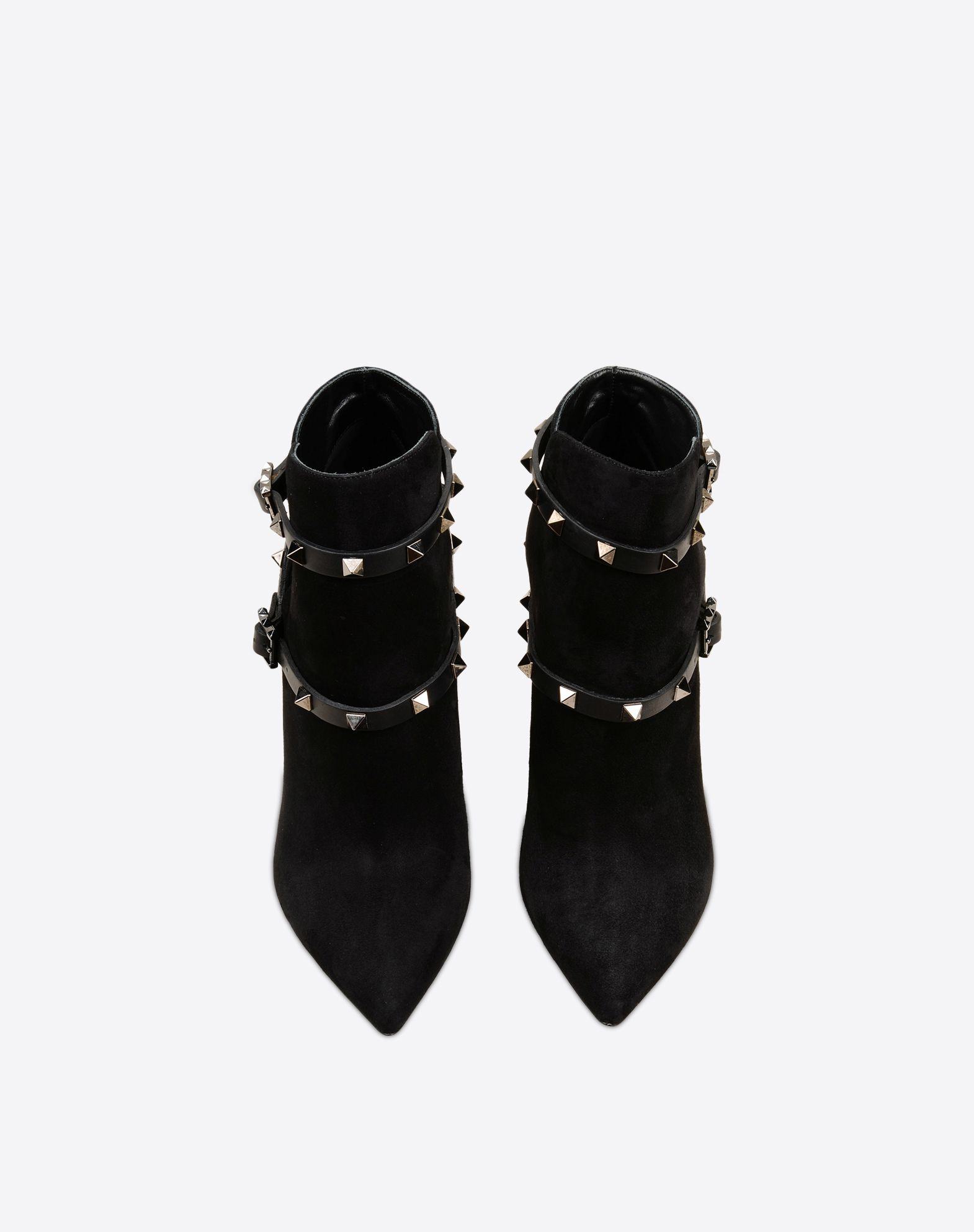 VALENTINO Studs Sueded Solid color Buckle Leather sole Narrow toeline Spike heel  44915007ip