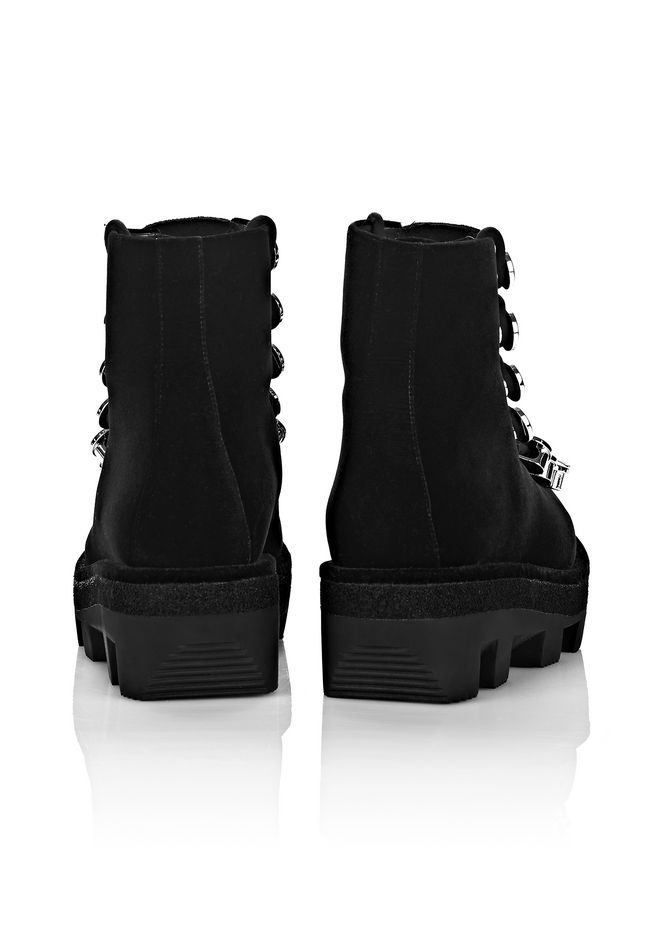 ALEXANDER WANG SAM LOW LACE-UP BOOT BOOTS Adult 12_n_e