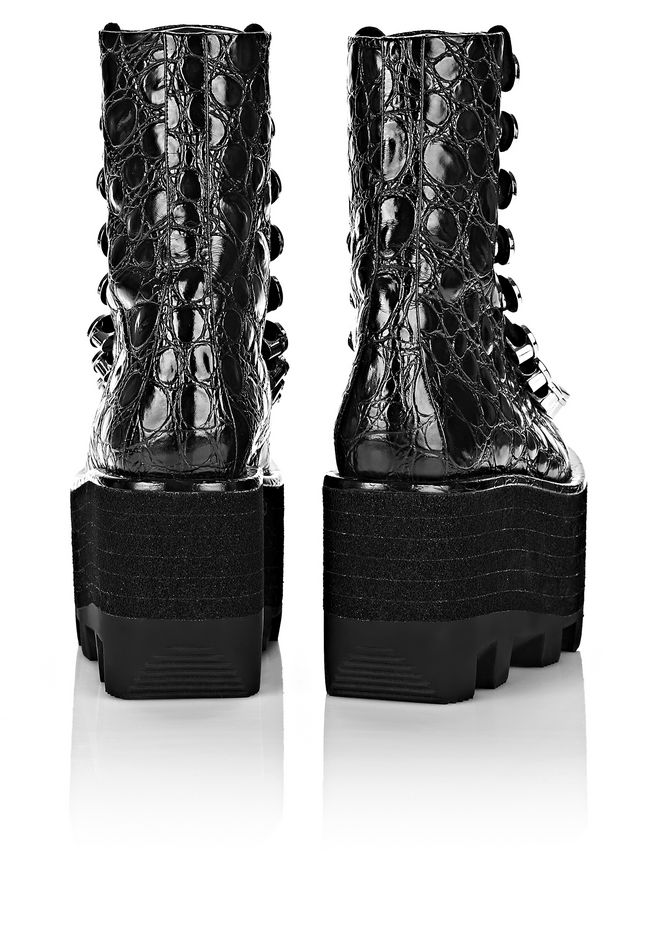 ALEXANDER WANG SAM HIGH LACE-UP BOOT BOOTS Adult 12_n_e