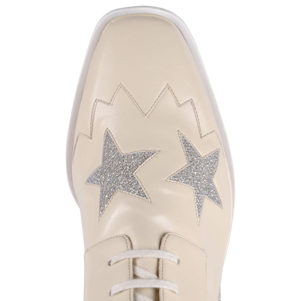 Ecru Elyse Star Shoes - STELLA MCCARTNEY