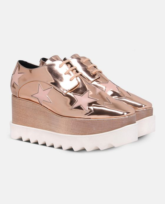 STELLA McCARTNEY Copper Elyse Star Shoes Wedges D h