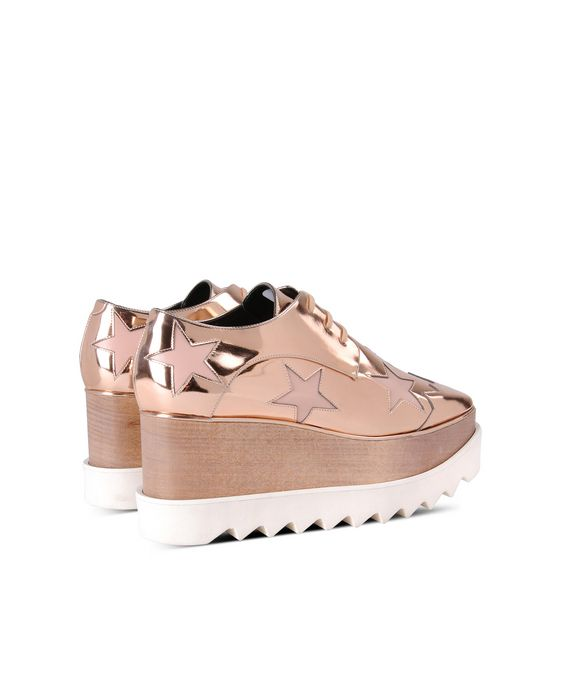 STELLA McCARTNEY Copper Elyse Star Shoes Wedges D i