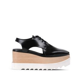 STELLA McCARTNEY Wedges D Black Elyse Cut-Out Shoes f