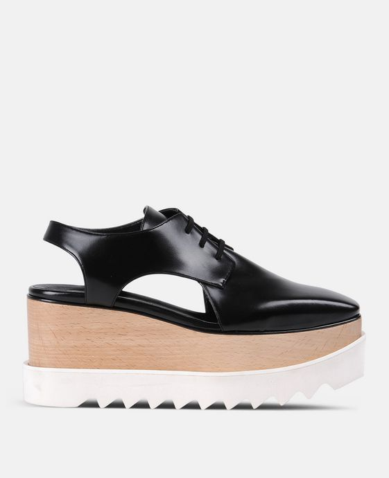 Black Elyse Cut-Out Shoes