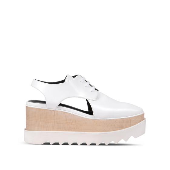 Chaussures Elyse blanches à découpes