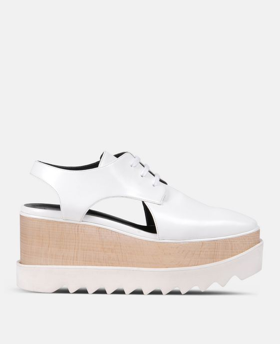 White Elyse Cut-Out Shoes