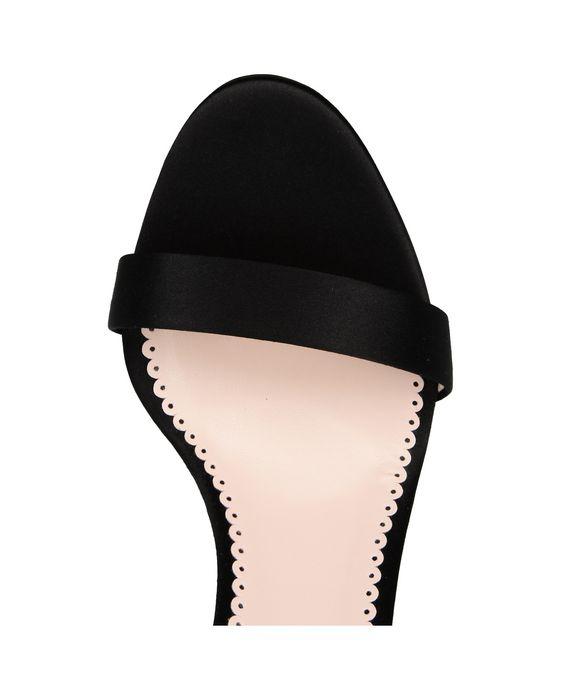 STELLA McCARTNEY Black Silk Satin Sandals Courts D p