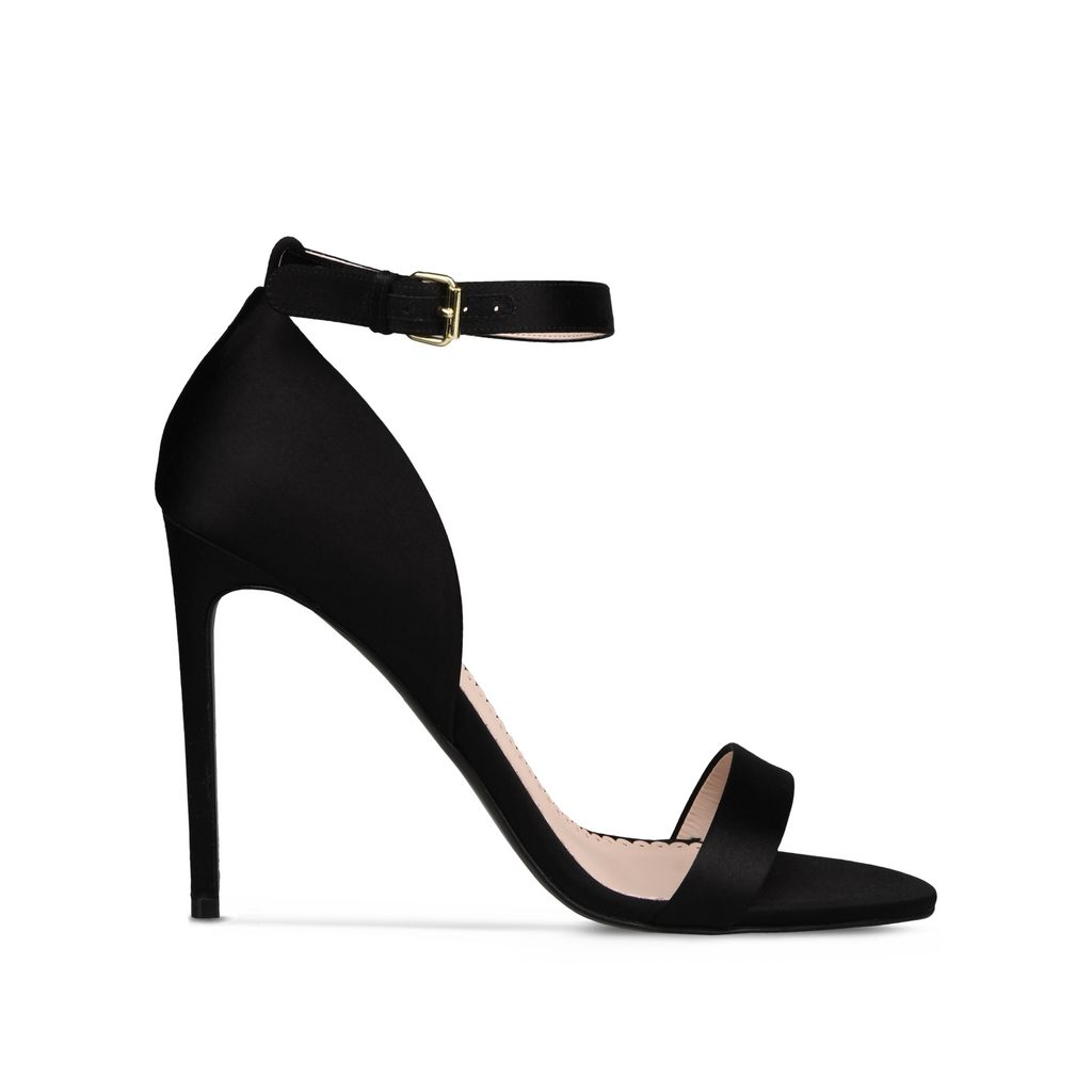 Black Silk Satin Sandals - STELLA MCCARTNEY