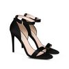 STELLA McCARTNEY Black Silk Satin Sandals Courts D r