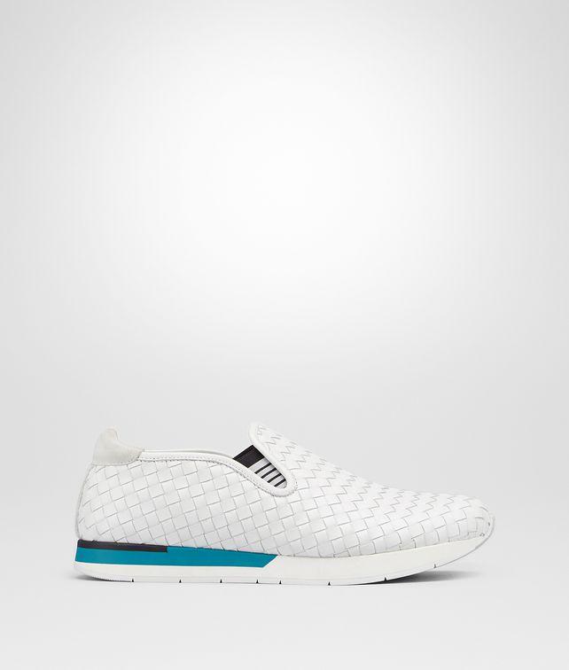 BOTTEGA VENETA SNEAKER IN BIANCO INTRECCIATO CALF Sneaker or Sandal U fp