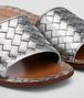 BOTTEGA VENETA RAVELLO SANDALS IN LIGHT SILVER INTRECCIATO CALF Pump or Sandal D ap