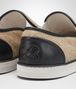 BOTTEGA VENETA SNEAKER IN NATURALE CANVAS AND NERO CALF Sneakers D ap