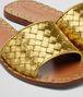 BOTTEGA VENETA RAVELLO SANDALEN AUS KALBSLEDER INTRECCIATO IN LIGHT GOLD Pump oder Sandale D ap