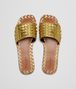 BOTTEGA VENETA RAVELLO SANDALS IN LIGHT GOLD INTRECCIATO CALF Pump or Sandal D ep
