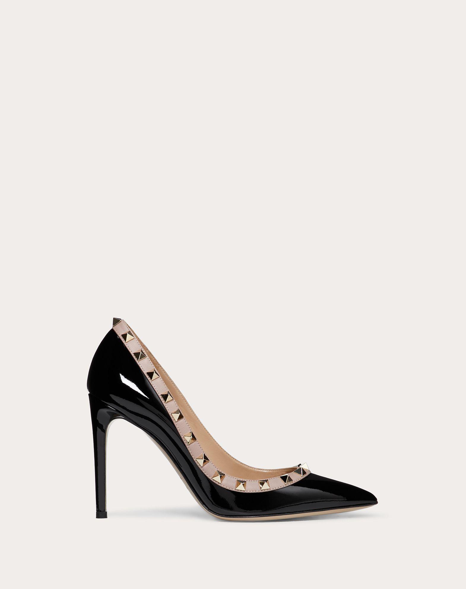 VALENTINO Studs Varnished effect Leather sole Narrow toeline Spike heel  44954457ab