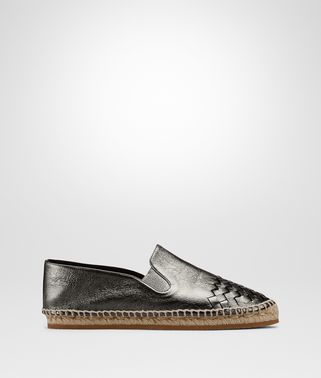 GALA ESPADRILLE IN ARGENTO ANTIQUE CALF INTRECCIATO