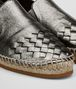 BOTTEGA VENETA GALA ESPADRILLE IN ARGENTO ANTIQUE CALF INTRECCIATO Flat D ap