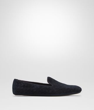 FIANDRA SLIPPER IN DARK NAVY INTRECCIATO SUEDE