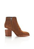 ALEXANDER WANG GABI SUEDE BOOTIE WITH RHODIUM BOOTS Adult 8_n_a