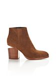 ALEXANDER WANG GABI SUEDE BOOTIE WITH RHODIUM BOOTS Adult 8_n_f