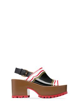 Marni One-band wedge in shiny calfskin  Woman